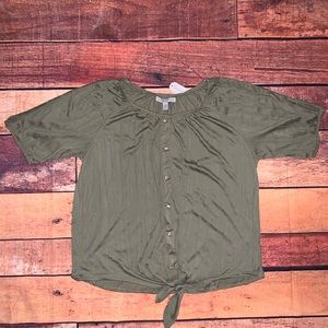 French Laundry 3X Army Green Blouse (Ox)